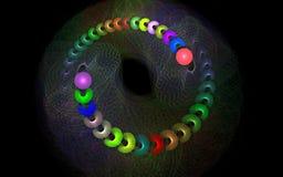 Bas del remolino del color Fotos de archivo libres de regalías