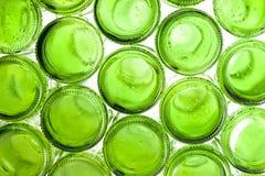 Bas des bouteilles en verre vides Photos libres de droits