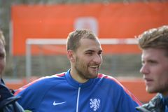 Bas Dost. Football player of Vfl Wolfsburg and the Dutch National Soccer Squad Stock Image