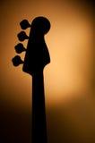bas- elektrisk jazzsilhouette Arkivfoton