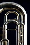 bas- euphoniumtuba Fotografering för Bildbyråer