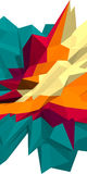 Bas fond abstrait du polygone 3d Illustration bleue et orange Photo libre de droits
