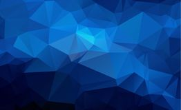 Bas fond polygonal clair bleu de modèle de triangle de polygone Image libre de droits