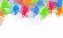 Bas fond polygonal clair bleu de modèle de triangle de polygone Image stock