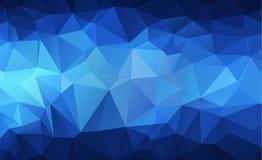 Bas fond polygonal clair bleu de modèle de triangle de polygone Images stock