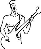 Bas gitarist Royalty-vrije Stock Foto