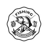 Bas het embleemmalplaatje van de visserijstaking royalty-vrije illustratie