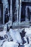 Bas-hulp de ruïnes van Angkor Wat, Kambodja royalty-vrije stock fotografie