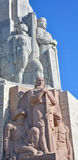 Bas-hulp van Brivibas-piemineklis Stock Afbeelding