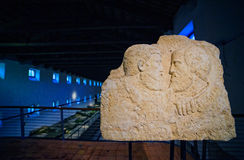 Bas lättnad, Aquileia nationellt arkeologiskt museum Arkivbild