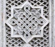 Bas-lättnad av oktogon med en prydnad Royaltyfria Foton