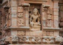 Bas-lättnader på Gangaikondaen Cholapuram Royaltyfri Bild