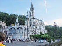 Bas?lica de Lourdes Our Lady de Lourdes Immaculate Conception Chapel France fotografia de stock