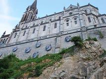 Bas?lica de Lourdes Our Lady de Lourdes Immaculate Conception Chapel France fotos de stock