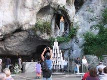 Bas?lica de Lourdes Our Lady de Lourdes Immaculate Conception Chapel France fotografia de stock royalty free