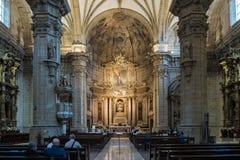 Bas?lica de Santa Maria del Coro en San Sebastian - Donostia, Espa?a imágenes de archivo libres de regalías