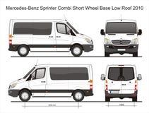 Bas modèle de Van 2010 de toit de Mercedes Sprinter Combi SWB Image stock