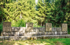 Bas Monument to the liberators of Lithuania. Grutas Park Stock Image