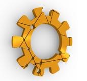 Bas poly concept de roue de dent Photographie stock