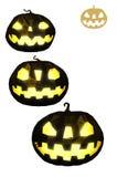 Bas poly ensemble avec des attributs populaires de Halloween de vacances Images stock