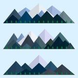 Bas poly ensemble de style de montagnes Arêtes polygonales de montagne Illustration EPS10 de vecteur Photos libres de droits