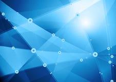 Bas poly fond abstrait de communication de technologie Photo stock