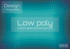 Bas poly fond abstrait vert-bleu Style géométrique de triangulation Calibre texturis? illustration libre de droits