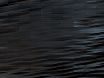 Bas-poly fond foncé, vague noire triangulaire polygonale Image stock