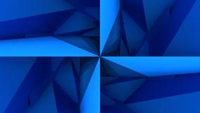 Bas poly fond géométrique bleu-foncé illustration stock