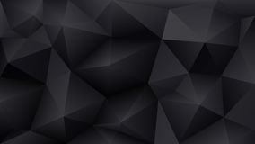 Bas poly fond noir abstrait des triangles illustration stock