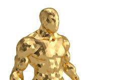 Bas poly homme d'or illustration 3D illustration stock