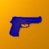 Bas-poly illustration bleue d'arme à feu Image libre de droits