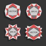 Bas poly labels modernes abstraits Dirigez le bas poly cadre avec l'espace pour élément créatif de calibre des textes le bas poly Photographie stock libre de droits