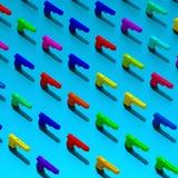 Bas poly modèle d'armes colorées Photo libre de droits