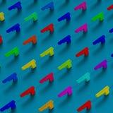 Bas-poly modèle d'illustration de cadre coloré d'armes à feu Images libres de droits