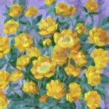 Bas poly modèle floral Photo stock