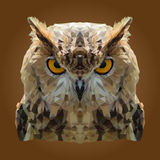 Bas poly Owl Design abstrait Photographie stock