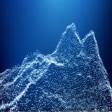 Bas poly paysage géométrique de la montagne 3D Terrain montagneux C Photographie stock libre de droits