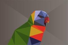 Bas poly perroquet Photo libre de droits