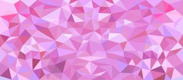 Bas poly rose abstrait Polygone géométrique de triangle de vecteur Fond en cristal rose Image libre de droits