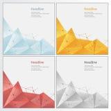 Bas poly style triangulaire fripé géométrique Images stock