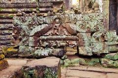 Bas-relevo da mulher de Angkor, Camboja Imagem de Stock