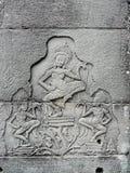 Bas-relevo de deusas da dança Foto de Stock Royalty Free
