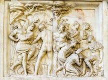 Bas-relevo de Florença Italia Fotografia de Stock