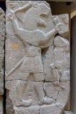 Bas-relevo de pedra antigo com Lion Aslan do período atrasado do Hittite no museu da arqueologia de Istambul em Istambul imagem de stock