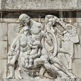 Bas-relevo dos soldados romanos, aproximadamente 80 anos velho Foto de Stock Royalty Free