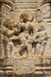 Bas-relief érotique antique images stock