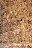 Bas-relief на квадрате Colonna колонки (Рим) Стоковая Фотография RF