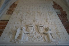 Bas-relief above the fireplace, Amboise, France Stock Photos