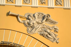 Bas-relief on the Admiralty building. Royalty Free Stock Photo